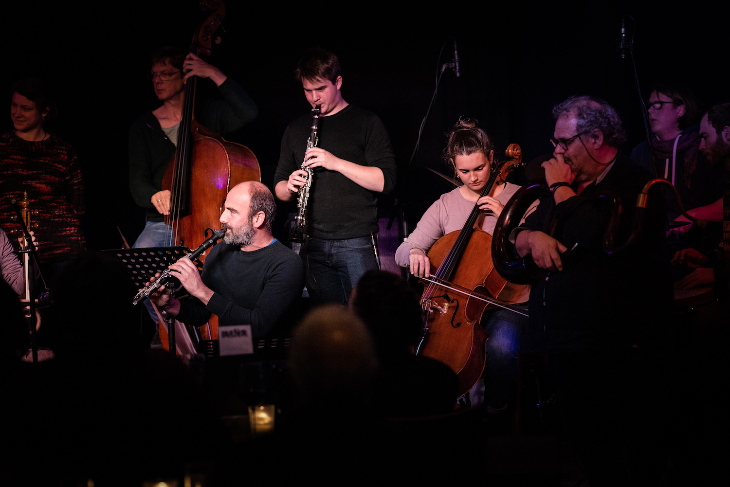 Jam Session at Blue Note with Kinan Azmeh & Michel Godard © Liudmila Jeremies